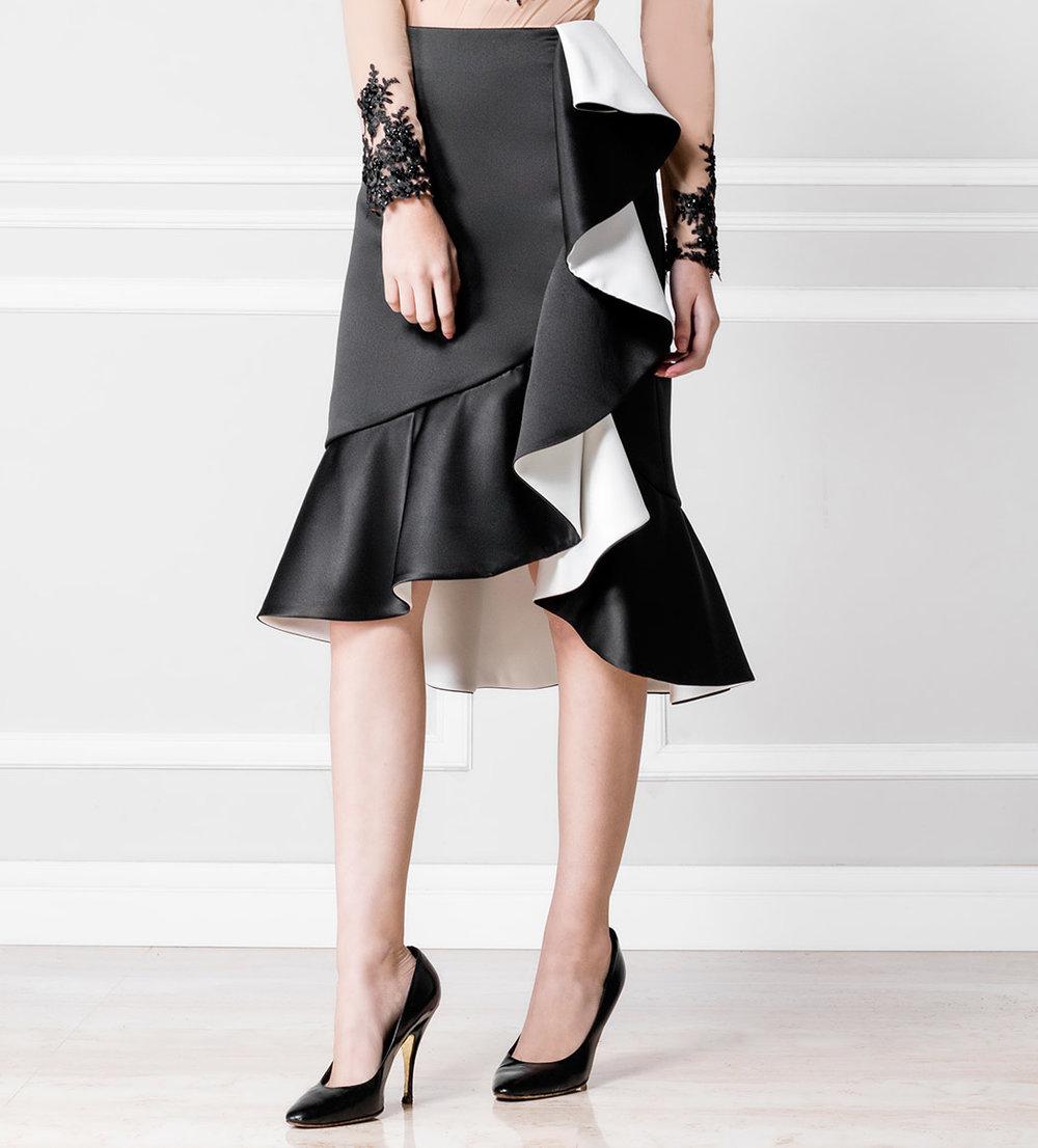 Falda Lola blanco y negro - €230