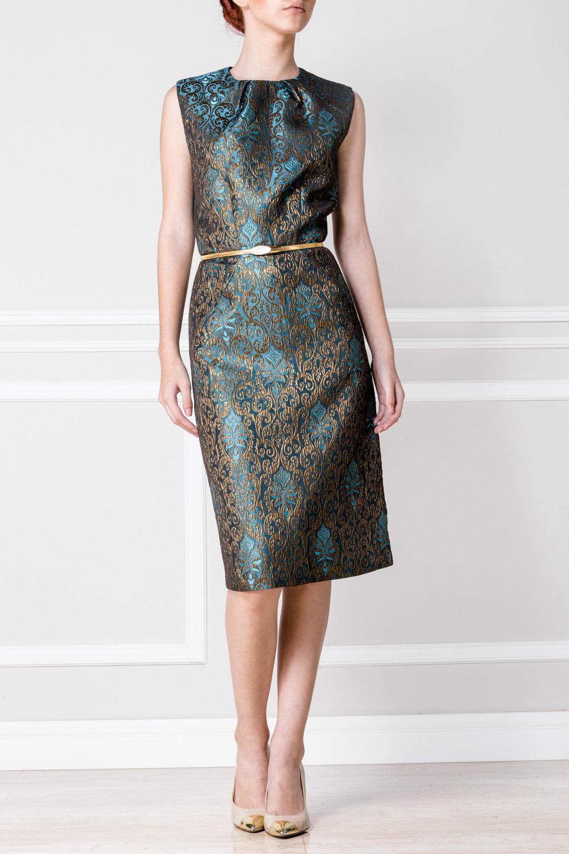 Vestido verde y dorado - €200