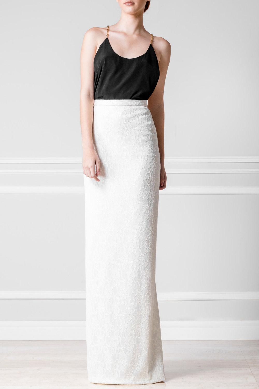 Falda tub blanca - $110
