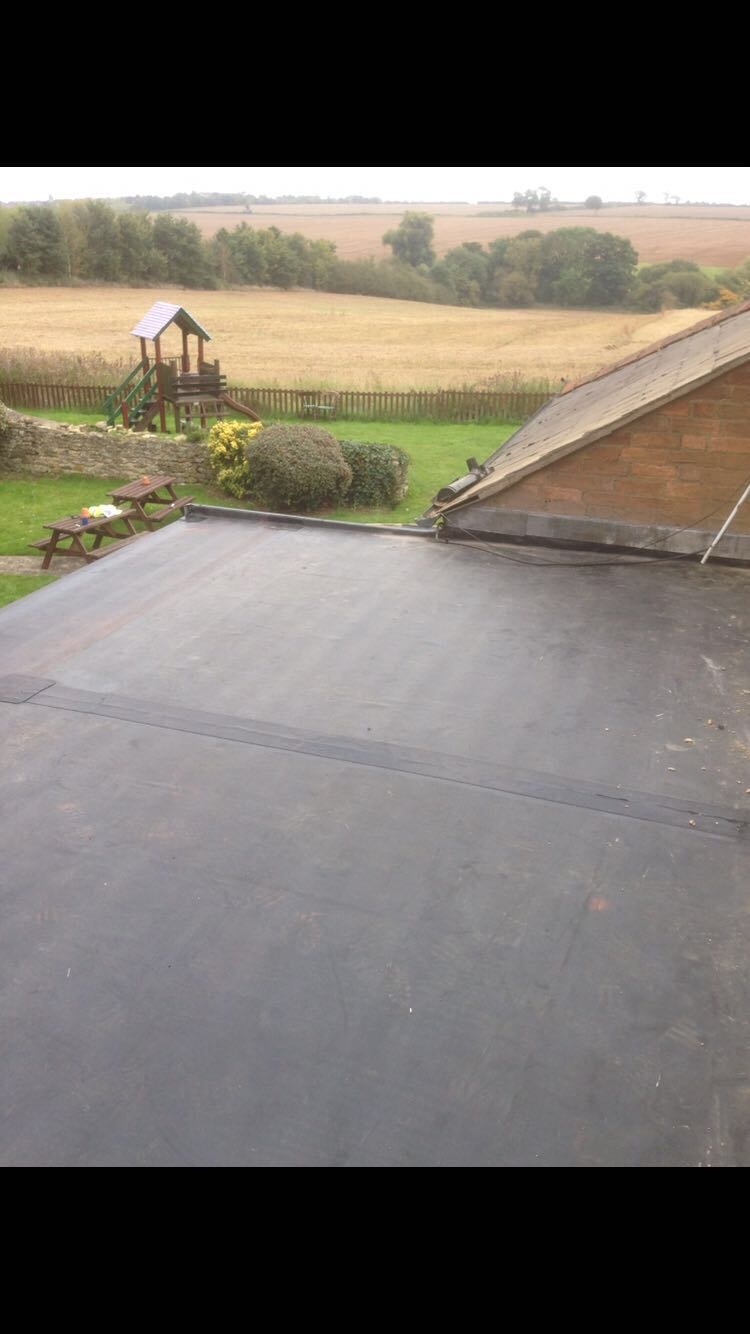 After:  Replaced roof with EPDM rubber membrane