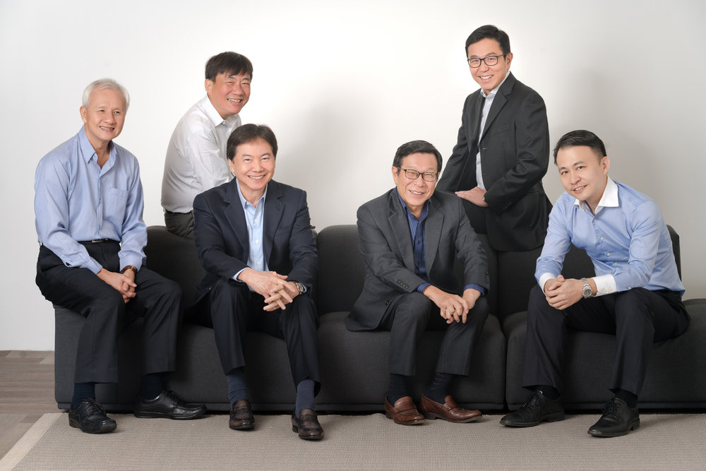 Board of Directors from left to right: Andrew Tay, Stanley Tan, Pang Yoke Min, Mah Bow Tan, Ng Tiong Gee, Loo Wen Lieh