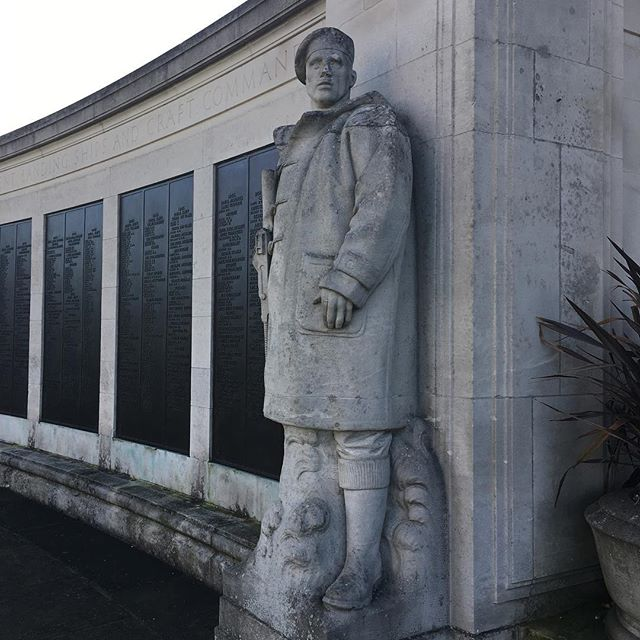 Visited the Chatham Naval Memorial today, time to get the sketchbook out...