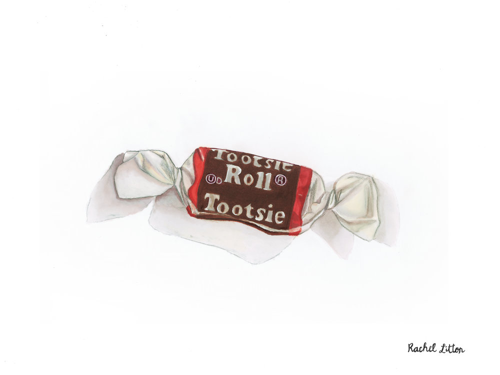 Tootsie Roll  Marker On Bristol   9 in. x 12 in.