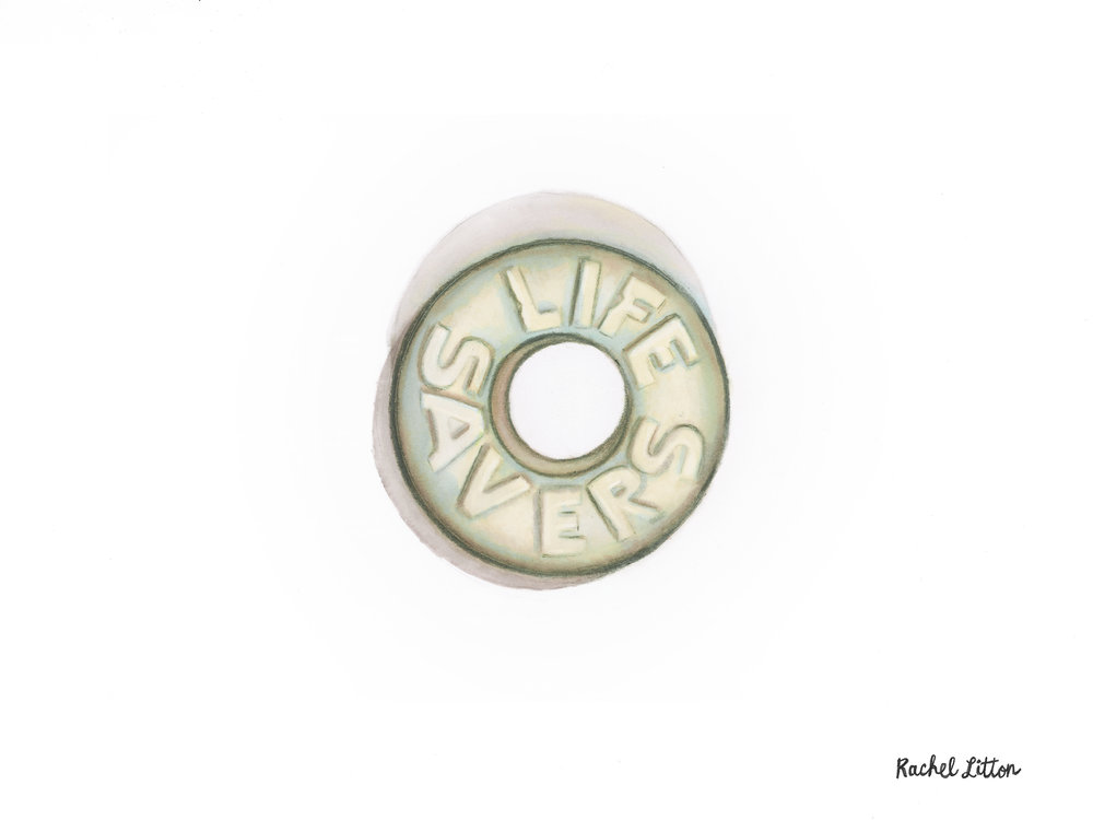 Life Savers   Marker On Bristol   9 in. x 12 in.