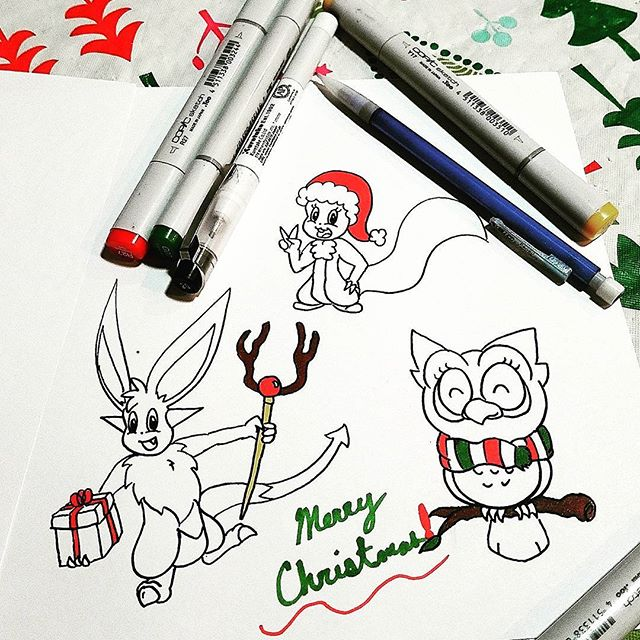 Merry Christmas! 🎄🎁💝🌎 . . . . . . . . #ZuStudio #illustration #illustrator #graphicdesign #art #Demono #Christmas #doodle #sketch #toon #animation #art #doodles #doodle #drawing #ink #artist #freehand #marketing #advertising #animals #MAGA #doodler #imagineer #designer #creative #Zoodle