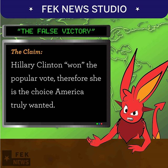 "Popular opinion would have you believe that Hillary Clinton ""won"" the popular vote and thus should be president because America ""chose"" her... That claim couldn't be further from the truth. . . . . . . . . . #Demono #FekNews #FekNewsHeadlines #MAGA #ZuStudio #HillaryClinton #loser #conservative #libertarian #liberal #alternative #Trump #2016election #oldnews"