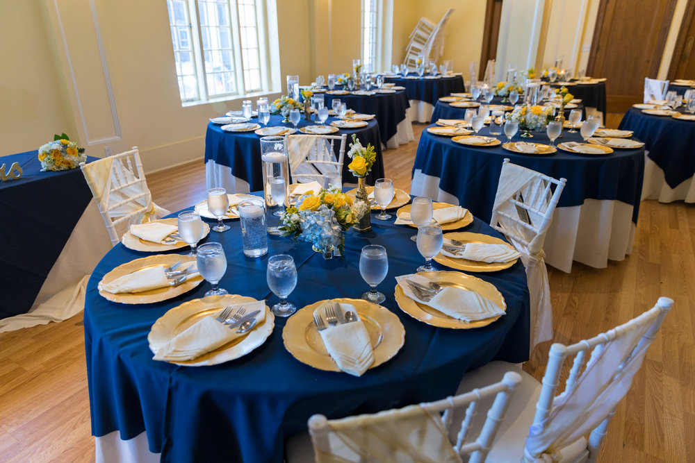 Monte Cristo Ballroom Wedding Venue Dinner Table Details