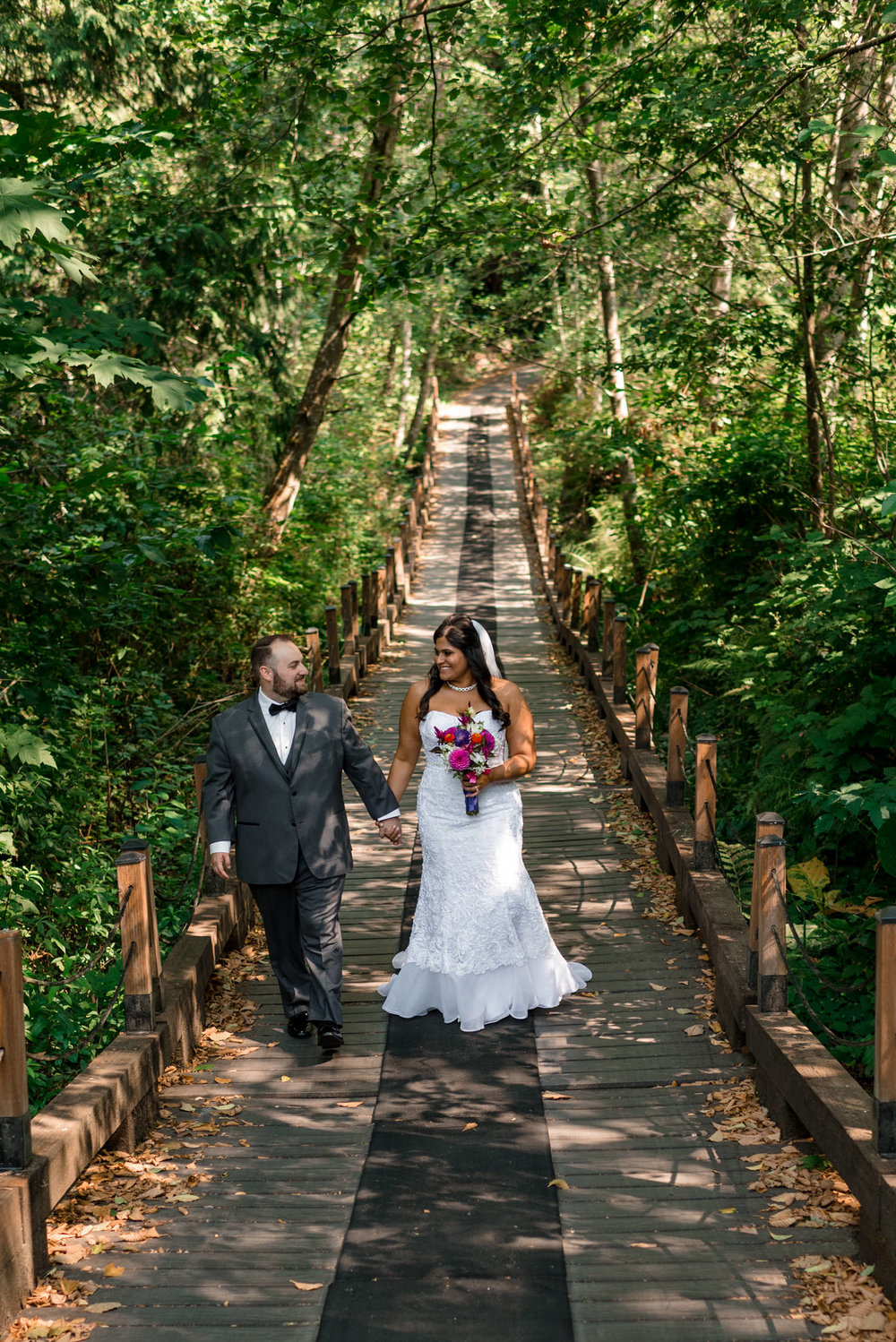 Indian Bride and Groom Walk Around Echo Falls Golf Course