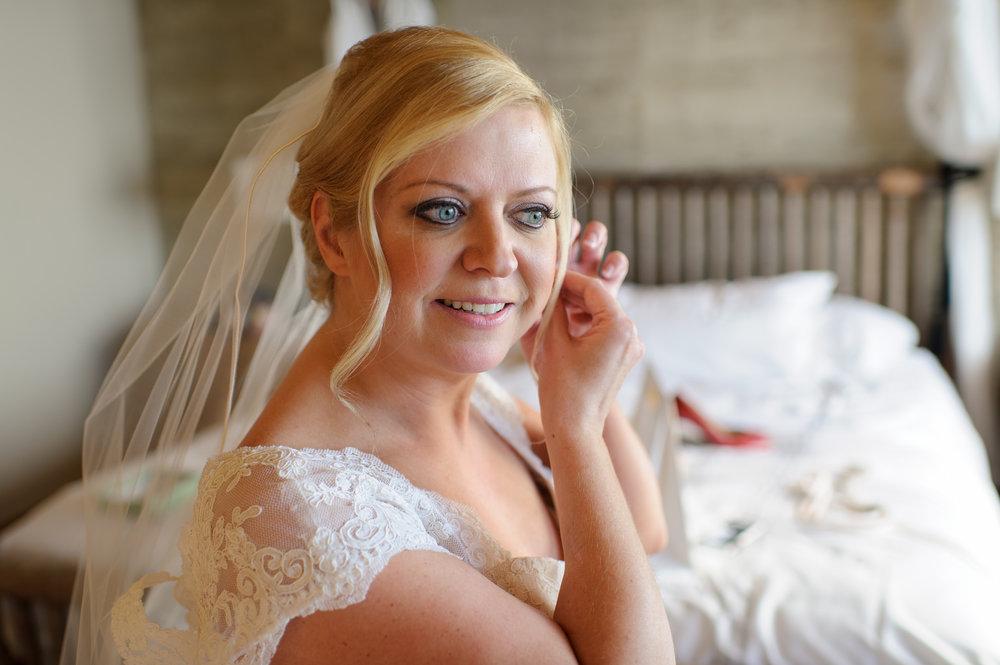 Bridal Earrings at Edgewater Hotel