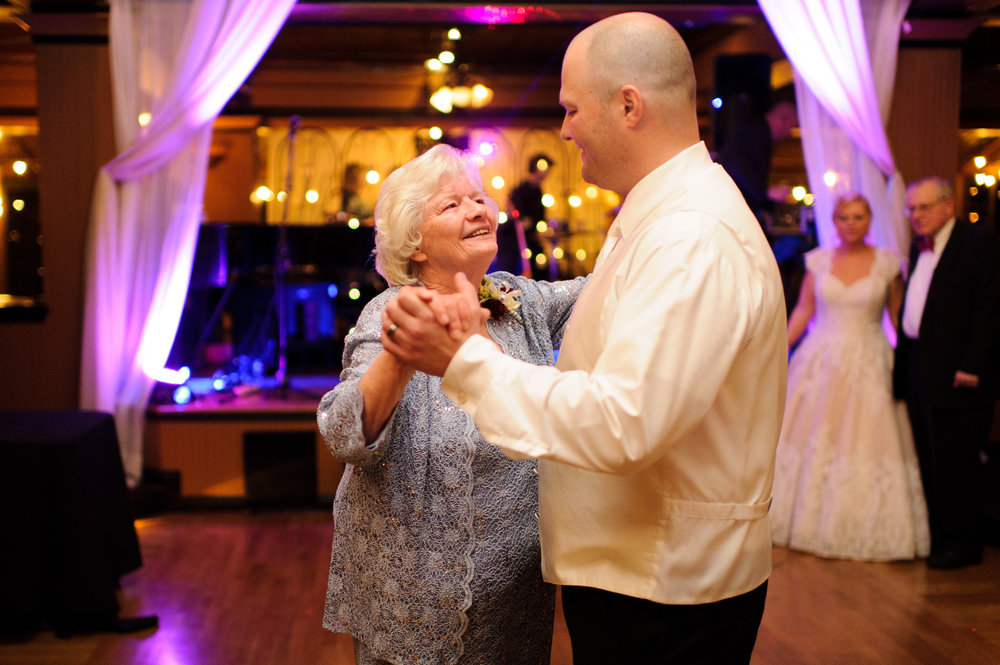 Groom and Mother Dance at Lake Union Cafe
