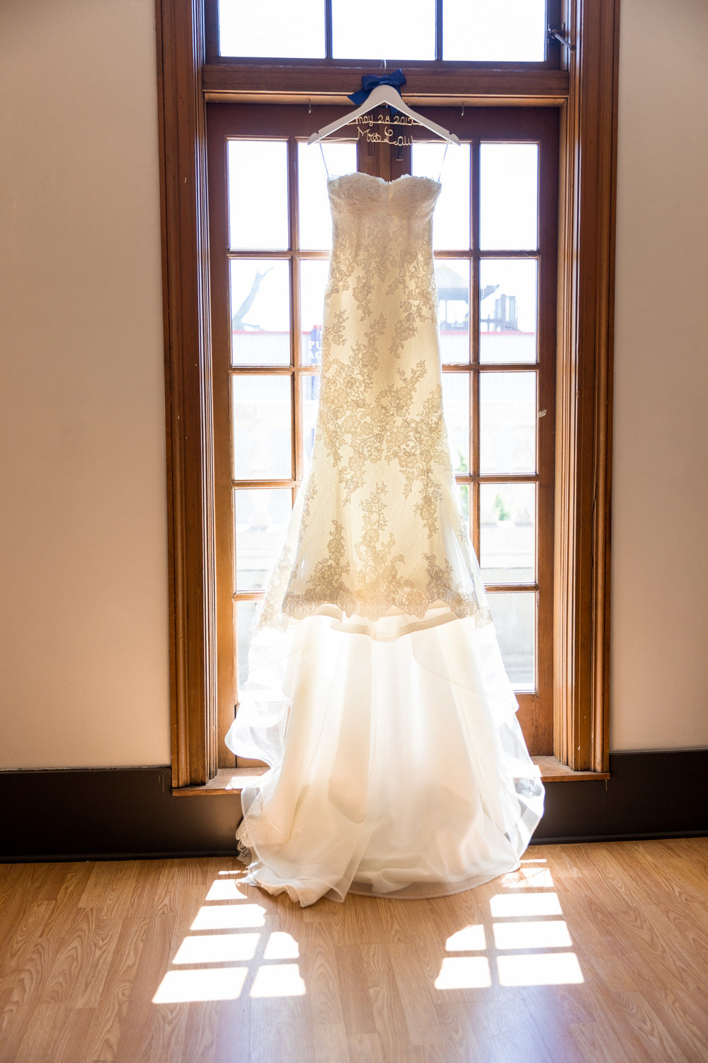 Wedding Dress Details at Monte Cristo Ballroom in Everett