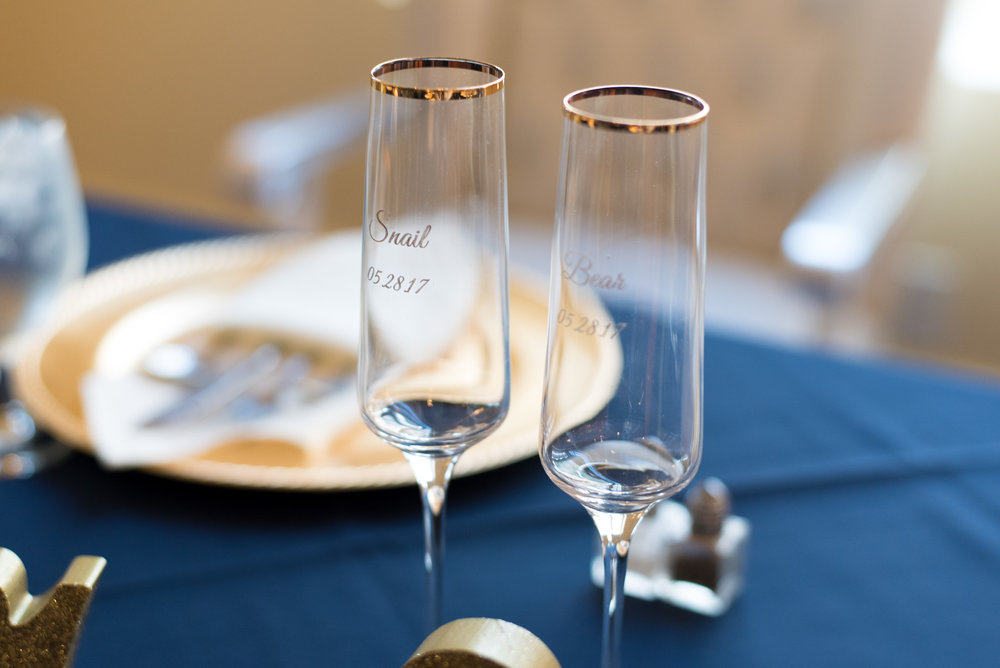 Bride and Groom Champagne Glasses