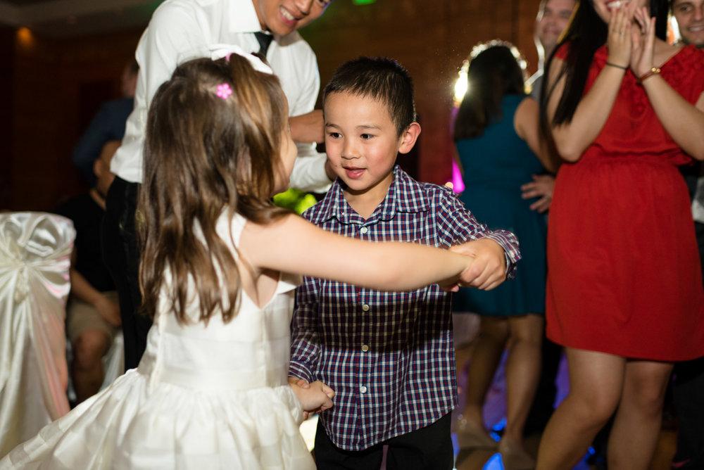 Kids Dance at Wedding Reception at Olive 8