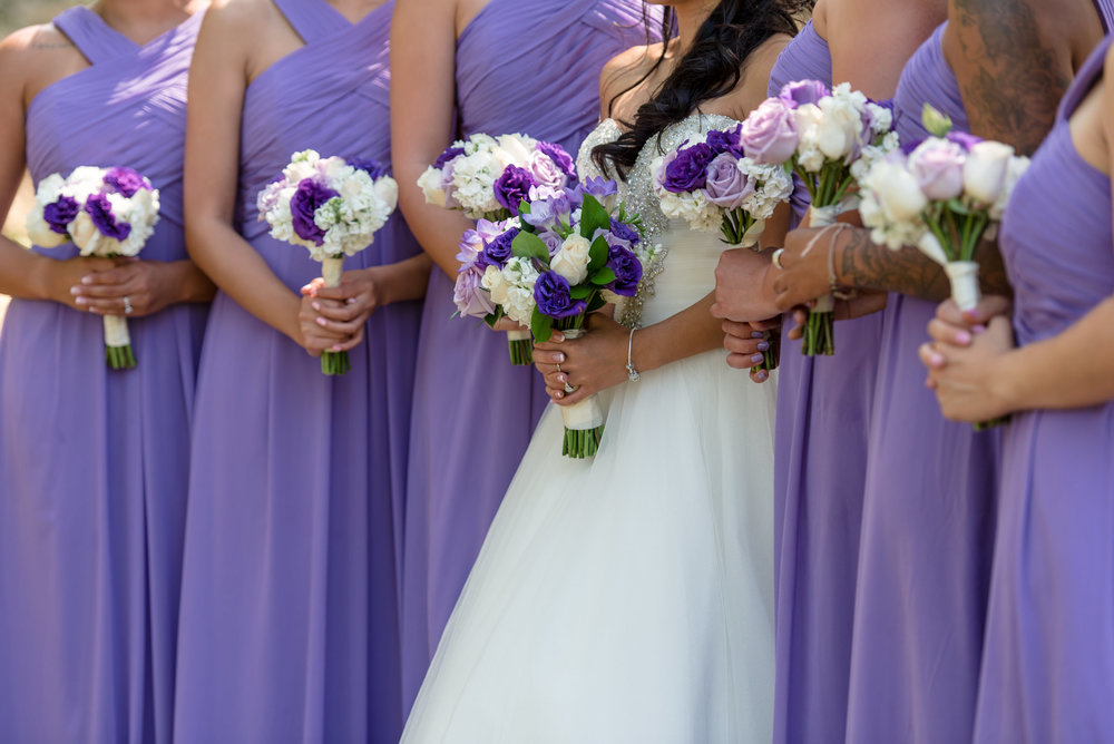 Asian Bride and Bridesmaids Flowers Wedding Details