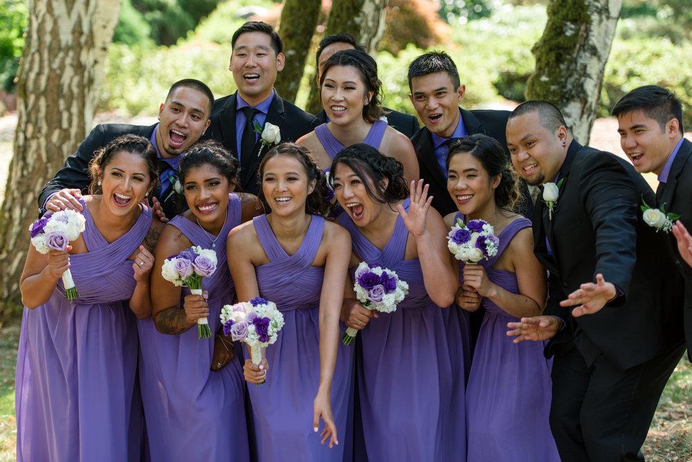 Happy Asian Wedding Party Portrait