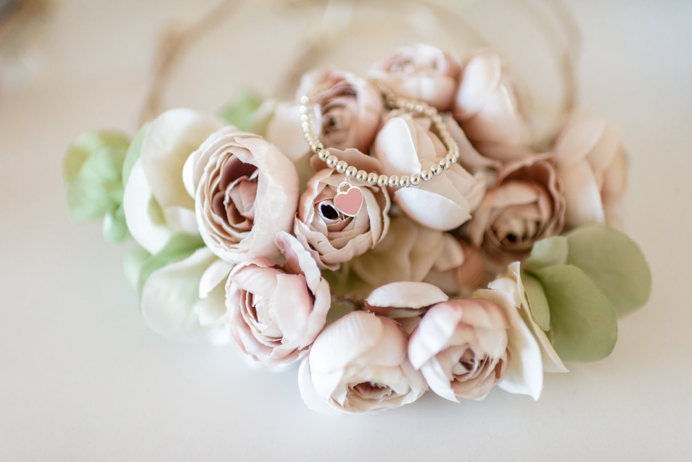 Wedding Flowers and Bracelet Details
