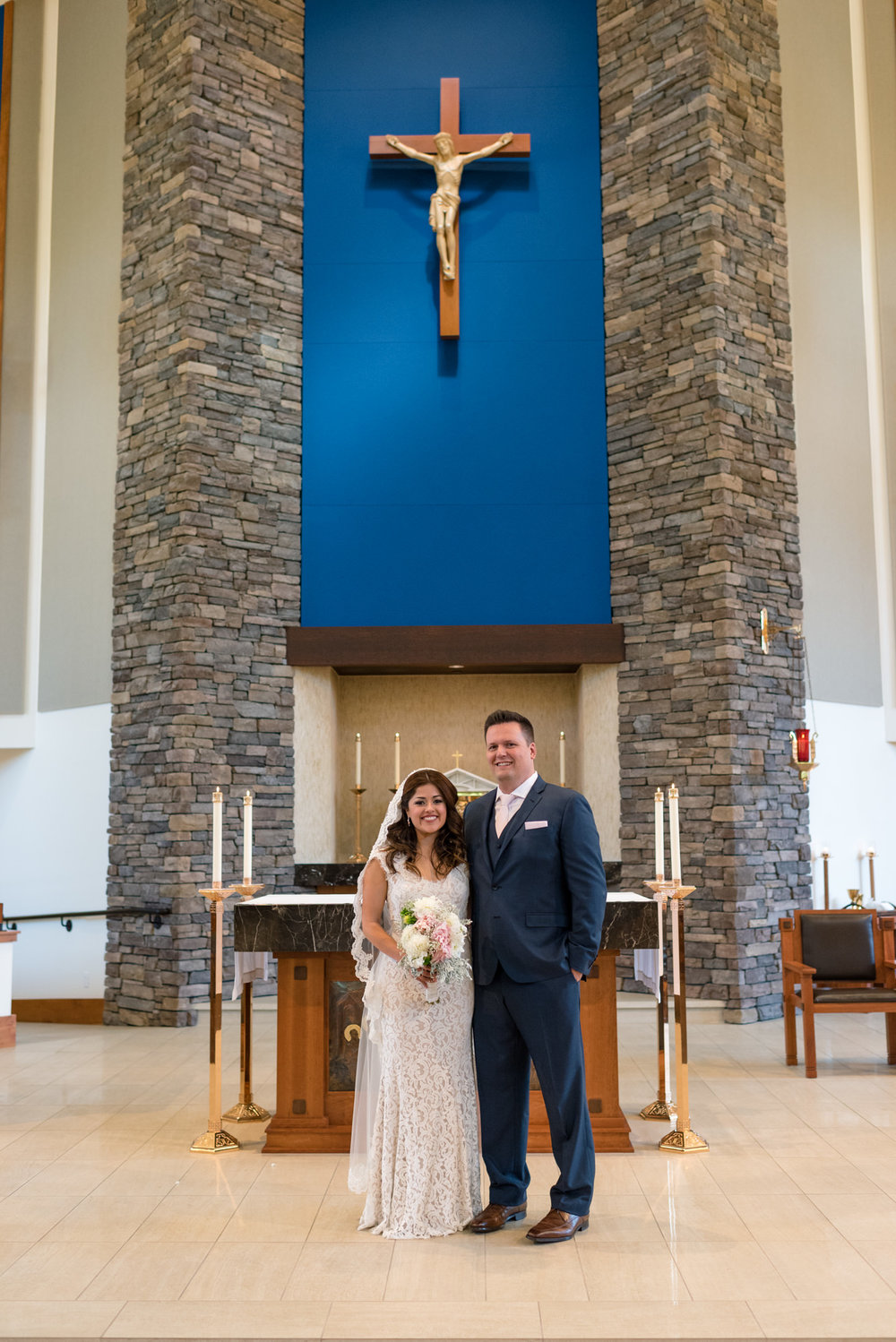 Happy Salvadoran Bride and Groom Wedding Portrait