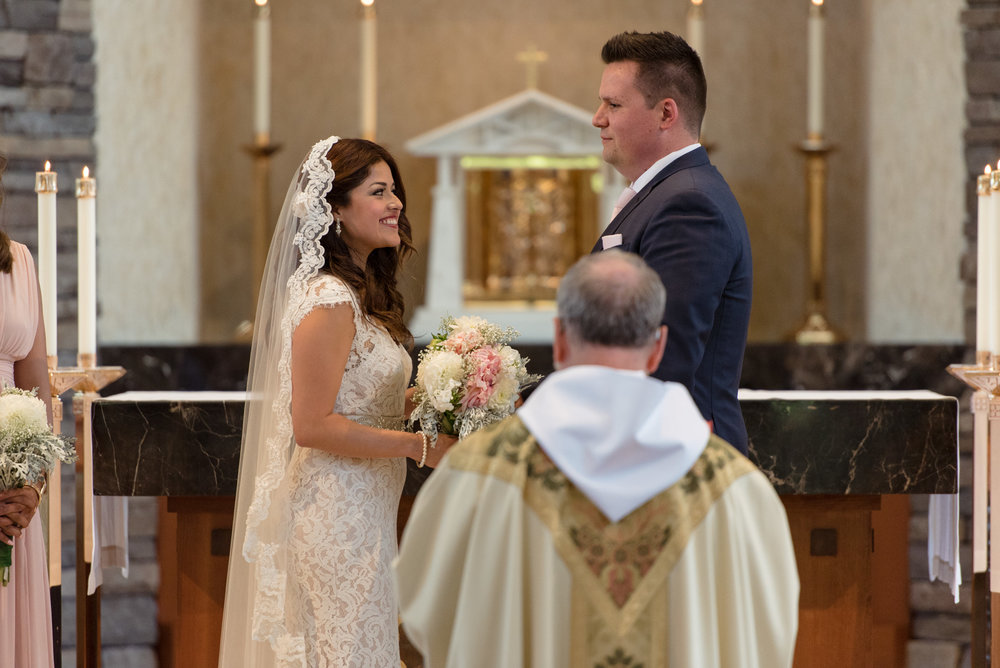 Salvadoran Bride and Groom Wedding Ceremony at Saint Theresa of