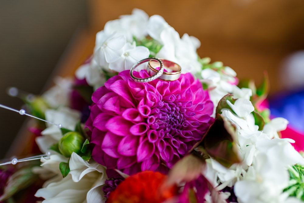 Wedding Ring and Bouquet Details