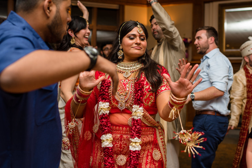 Indian Bride Dance during Wedding Reception