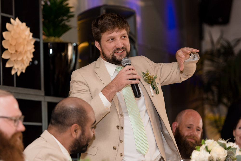 Groomsman Gives Wedding Toast