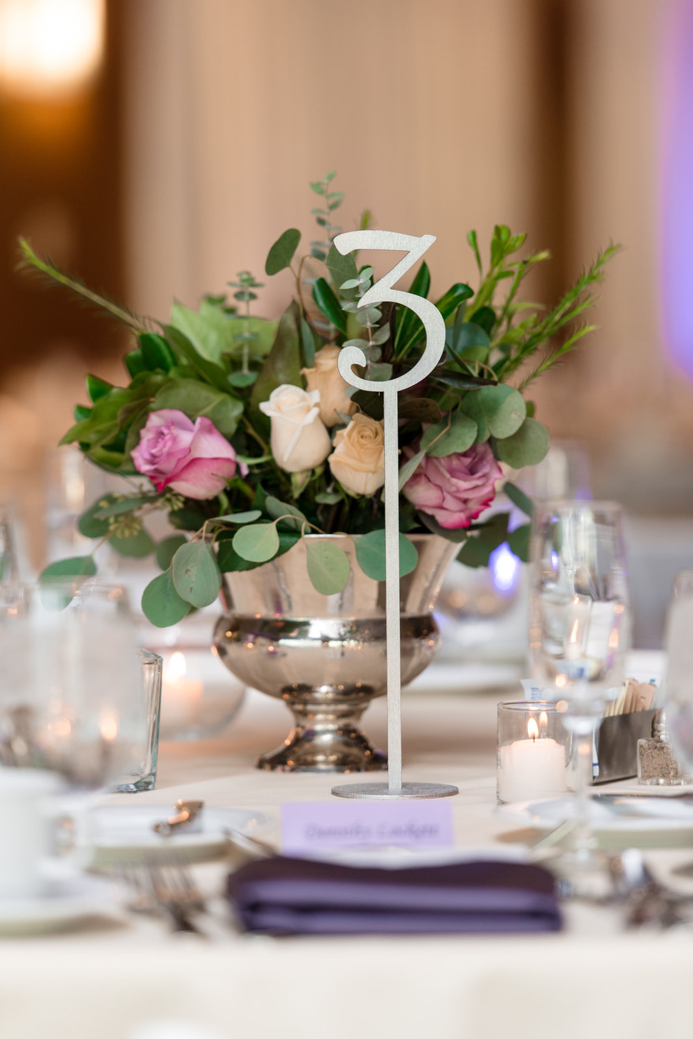 Table Centerpiece Wedding Details at Bell Harbor