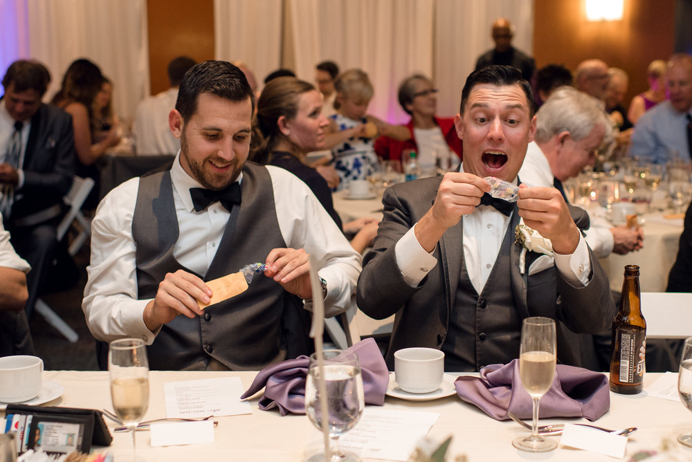 Wedding Guests Excited Reaction to Toast at Bell Harbor