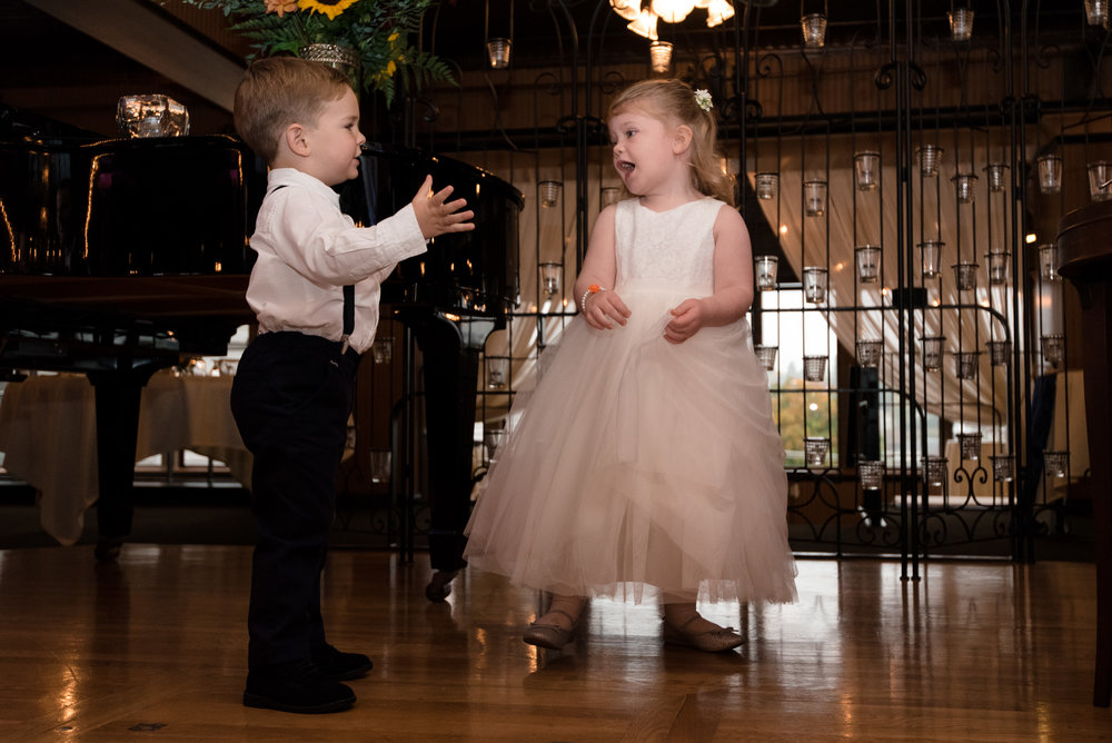 Flower Girl and Ring Bearer Dance at Lake Union Cafe