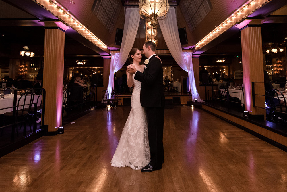 Bride and Groom First Dance at Lake Union Cafe