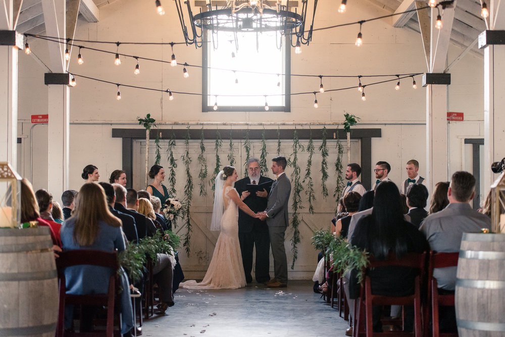 Wedding Ceremony at Dairyland in Snohomish
