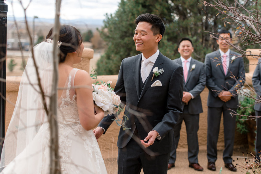 Asian Groom and Bride Outdoor First Look at Villa Parker
