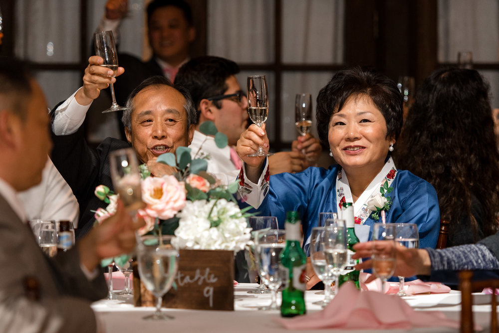 Asian Wedding Guests Wedding Toast