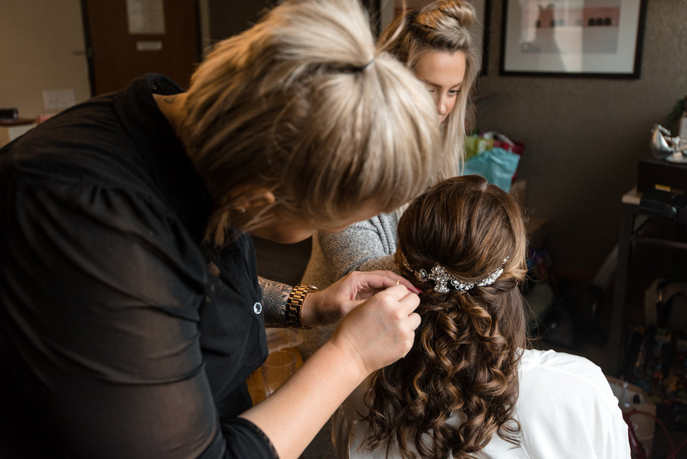 Bride Getting Ready at Watertown Hotel