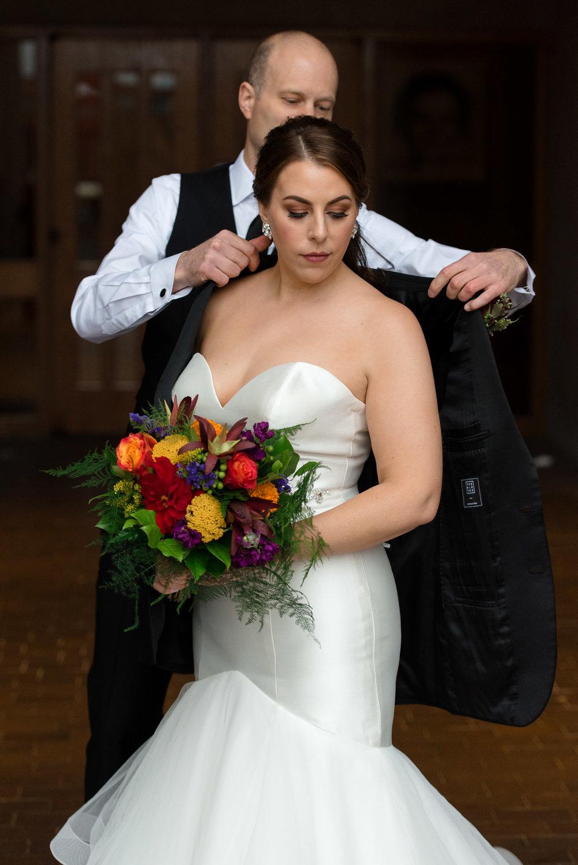Bride and Groom Portrait at University of Washington