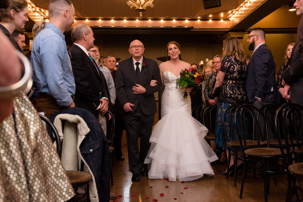 Bride and Father Wedding Ceremony Walk