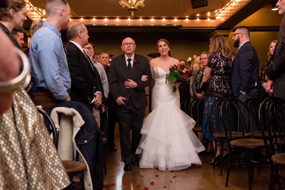 Bride and Father Wedding Ceremony Walk