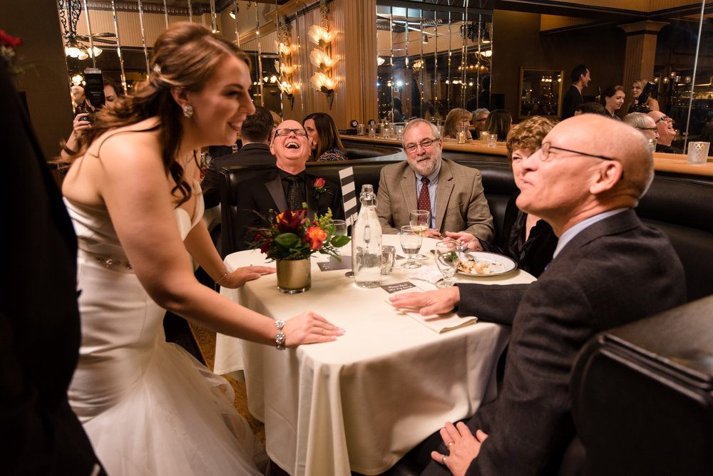 Bride and Groom Reception at Lake Union Cafe