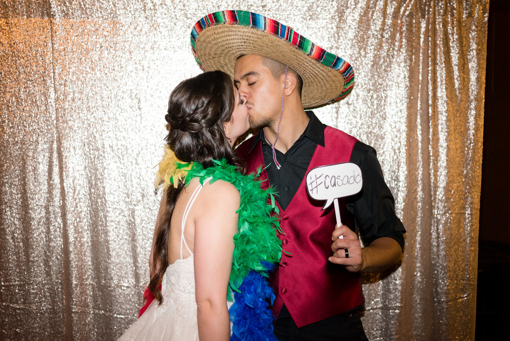 Bride and Mexican Groom Photobooth at Lake Union Cafe