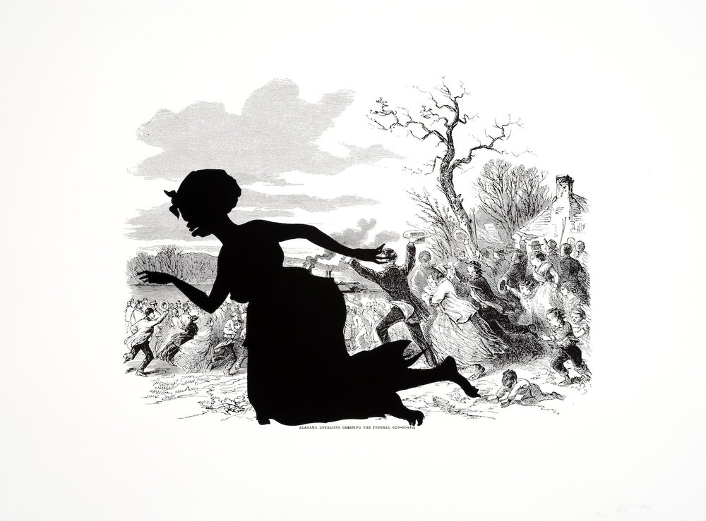 Kara Walker, Alabama Loyalists Greeting the Federal Gun-Boats, from Harper's Pictorial History of the Civil War (Annotated)