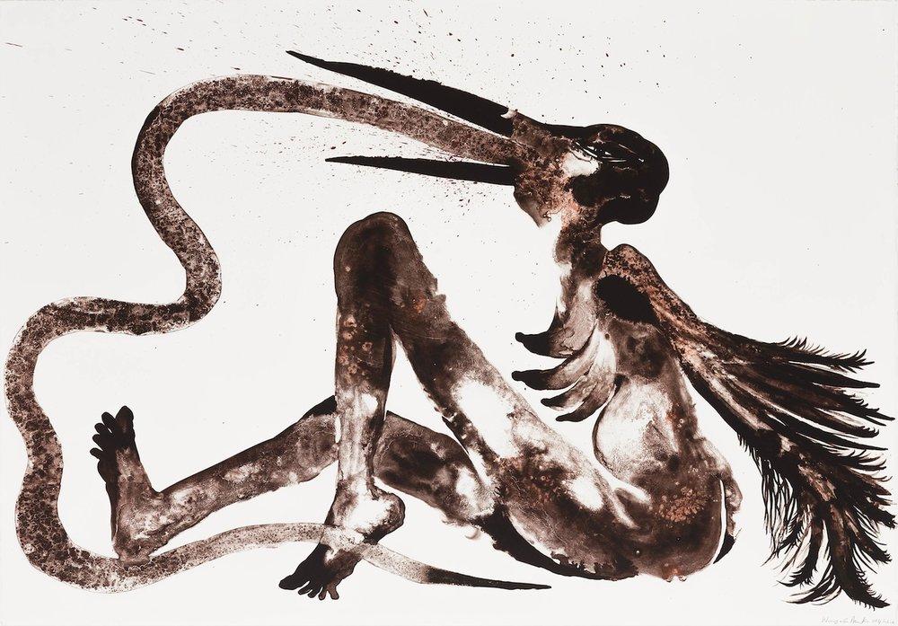 Wangechi Mutu, Snake Eater