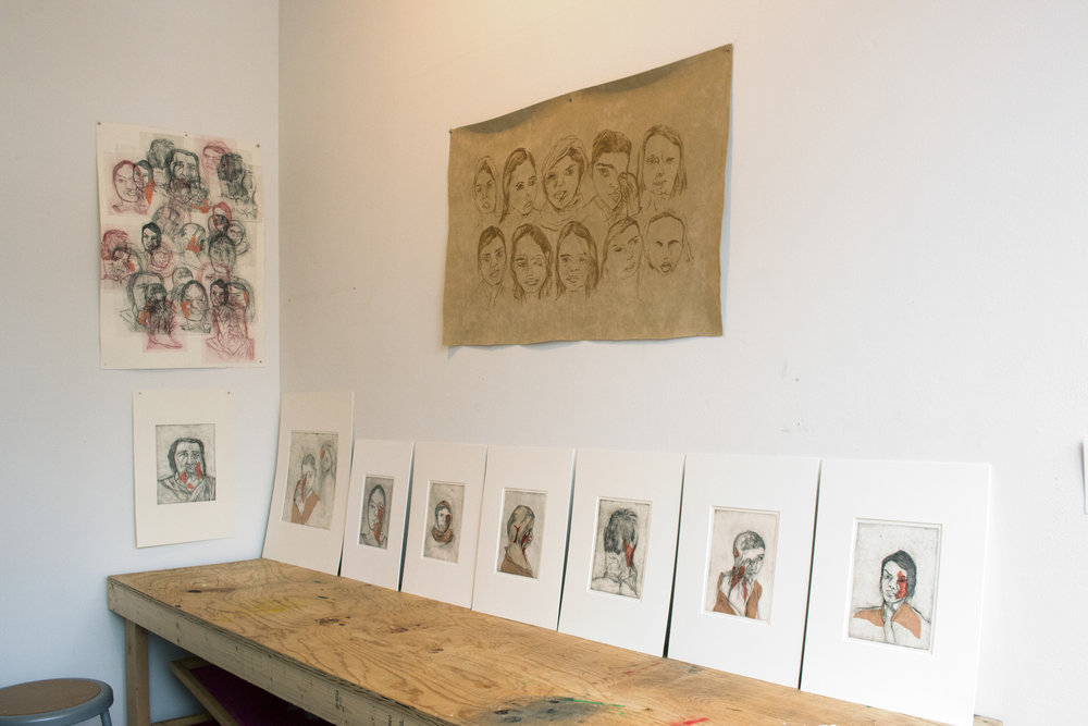 Shivangi's work installed in IPCNY's workshop