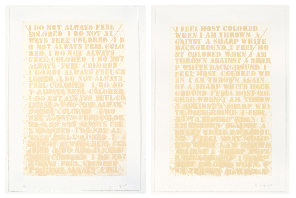 "Glenn Ligon, ""Untitled (Cancellation Proofs)"""