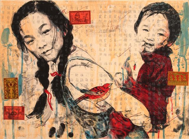 Sister  by Hung Liu