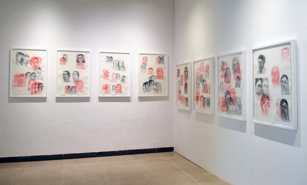 Shivangi's work on view in the  Young Subcontinent  exhibition at the Serendipity Arts Festival, Goa, India.