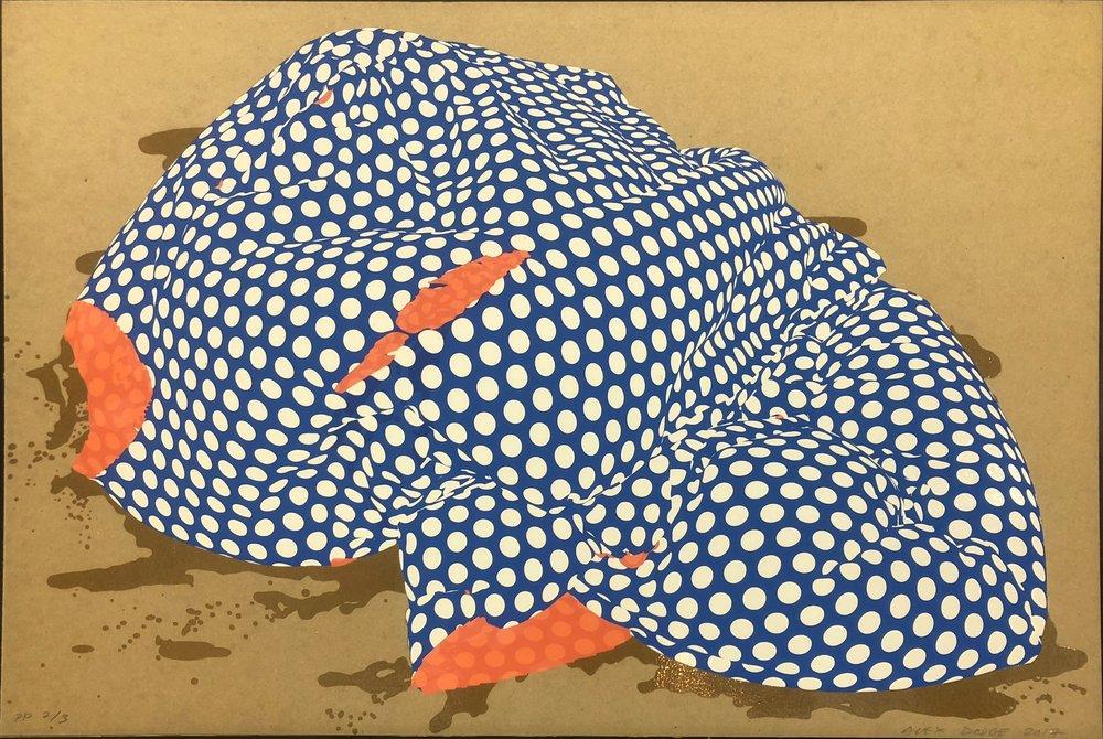 Alex Dodge.   El Norte (Fantasma) , 2017. Screenprint on Davey binder's board. Sheet: 20 x 30 inches. Printed by Luther Davis, BRT Printshop; published Joseph Editions, Columbus, Ohio. Edition: 30. Courtesy BRT Printshop/Powerhouse Arts Printshop. © 2019 Alex Dodge