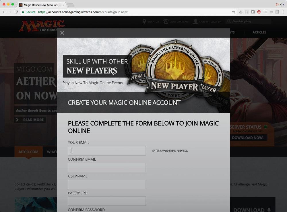 MTGO Account Creation