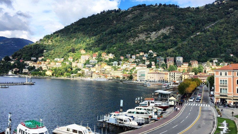 Stunning views across Lake Como