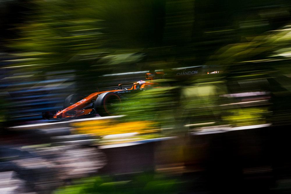 Jenson Button, McLaren. 2017 FIA Formula 1 Championship, Monte Carlo, Monaco.