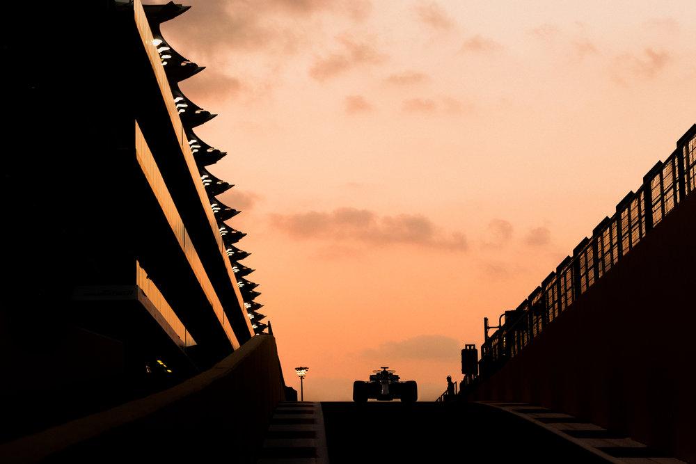Lewis Hamilton, Mercedes. 2017 FIA Formula 1 Championship, Abu Dhabi, UAE.