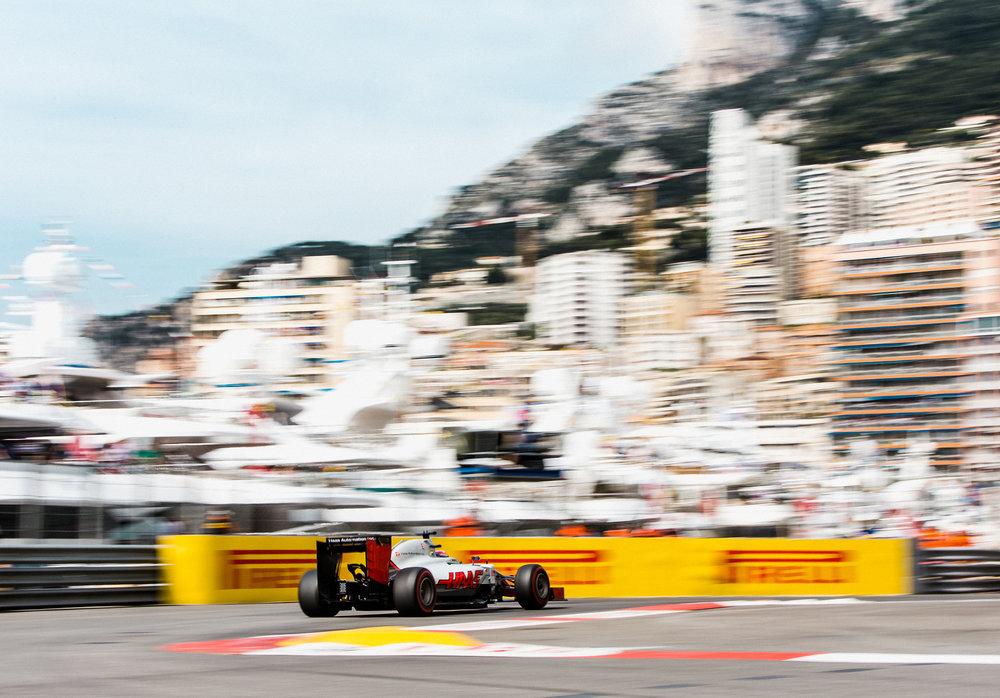 Romain Grosjean, Haas. 2016 FIA Formula 1 Championship, Monte Carlo, Monaco.